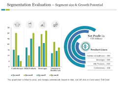 Segmentation Evaluation Segment Size And Growth Potential Ppt PowerPoint Presentation Infographic Template Outline