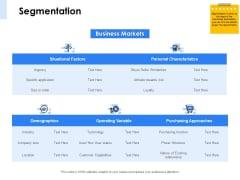 Segmentation Of B2B Markets Segmentation Business Ppt PowerPoint Presentation Visual Aids Deck PDF