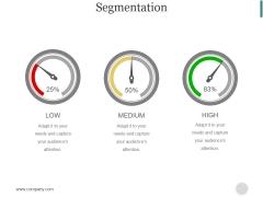 Segmentation Ppt PowerPoint Presentation Portfolio