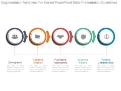 Segmentation Variables For Market Powerpoint Slide Presentation Guidelines