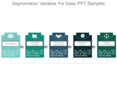 Segmentation Variables For Sales Ppt Samples