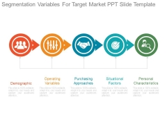 Segmentation Variables For Target Market Ppt Slide Template
