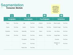 Segmenting User Market Segmentation Ppt PowerPoint Presentation Portfolio Slide Download PDF