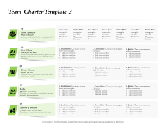Select Of Organizational Model That Supports Your Strategy Team Charter Template Roles Ppt Show Summary PDF