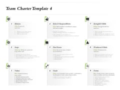 Select Of Organizational Model That Supports Your Strategy Team Charter Template Scope Ppt Outline Clipart PDF