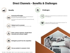 Selecting Appropriate Distribution Channel New Product Direct Channels Benefits And Challenges Download PDF
