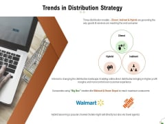 Selecting Appropriate Distribution Channel New Product Trends In Distribution Strategy Mockup PDF