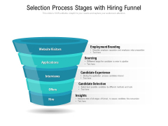 Selection Process Stages With Hiring Funnel Ppt PowerPoint Presentation File Ideas PDF