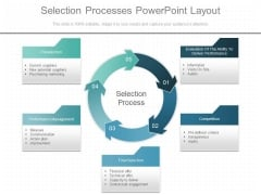 Selection Processes Powerpoint Layout