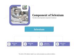 Selenium Automation Testing Component Of Selenium Ppt Slides Background Image PDF