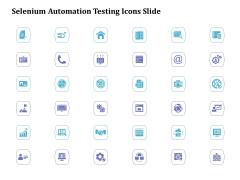 Selenium Automation Testing Icons Slide Ppt Portfolio Slideshow PDF