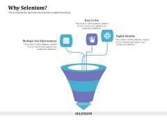Selenium Automation Testing Why Selenium Ppt Styles Clipart Images PDF