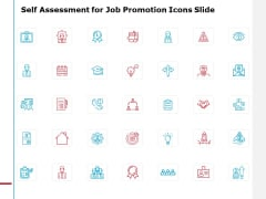 Self Assessment For Job Promotion Icons Slide Gears Ppt PowerPoint Presentation File Format Ideas
