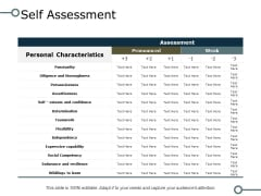 Self Assessment Ppt PowerPoint Presentation Icon Example