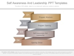 Self Awareness And Leadership Ppt Templates