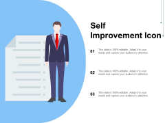 Self Improvement Icon Ppt PowerPoint Presentation Infographics Professional PDF