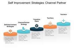 Self Improvement Strategies Channel Partner Strategy Transition Plans Ppt PowerPoint Presentation Diagram Lists