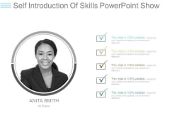 Self Introduction Of Skills Powerpoint Show