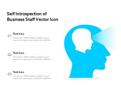 Self Introspection Of Business Staff Vector Icon Ppt PowerPoint Presentation Infographic Template Deck PDF