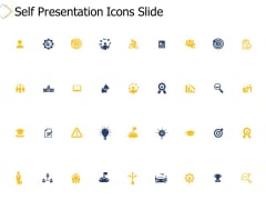 Self Presentation Icons Slide Arrows Ppt PowerPoint Presentation Styles Templates