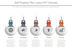 Self Progress Plan Layout Ppt Example