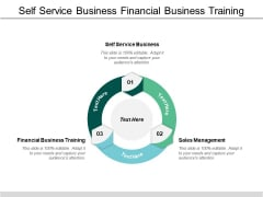 Self Service Business Financial Business Training Sales Management Ppt PowerPoint Presentation Gallery Influencers