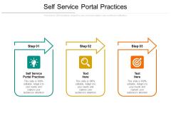 Self Service Portal Practices Ppt PowerPoint Presentation Portfolio Background Images Cpb Pdf