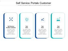 Self Service Portals Customer Ppt PowerPoint Presentation Gallery Slides Cpb Pdf