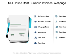 Sell House Rent Business Invoices Webpage Tools Webmaster Ppt PowerPoint Presentation Model Gridlines