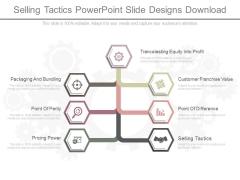 Selling Tactics Powerpoint Slide Designs Download