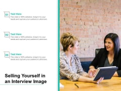 Selling Yourself In An Interview Image Ppt PowerPoint Presentation Styles Maker PDF