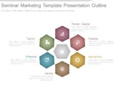 Seminar Marketing Template Presentation Outline