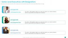 Senior Level Executives With Designations Ppt Infographic Template Graphics Tutorials PDF