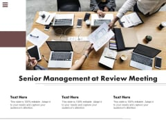 Senior Management At Review Meeting Ppt PowerPoint Presentation Outline Grid PDF