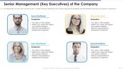 Senior Management Key Executives Of The Company Designs PDF