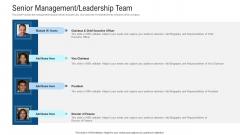 Senior Management Leadership Team Ppt Layouts Maker PDF