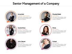 Senior Management Of A Company Ppt PowerPoint Presentation Model Microsoft PDF