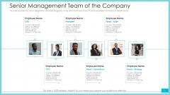 Senior Management Team Of The Company Ideas PDF