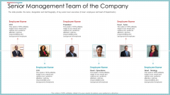 Senior Management Team Of The Company Ppt Icon Backgrounds PDF