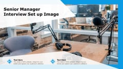 Senior Manager Interview Set Up Image Ppt Summary Graphics Template PDF