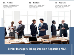 Senior Managers Taking Decision Regarding M And A Ppt PowerPoint Presentation Example 2015 PDF