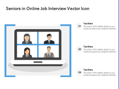 Seniors In Online Job Interview Vector Icon Ppt PowerPoint Presentation Icon Clipart Images PDF