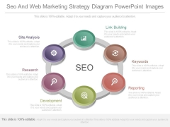 Seo And Web Marketing Strategy Diagram Powerpoint Images