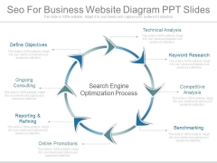 Seo For Business Website Diagram Ppt Slides