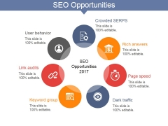 Seo Opportunities Ppt PowerPoint Presentation Gallery Icons