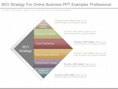 Seo Strategy For Online Business Ppt Examples Professional