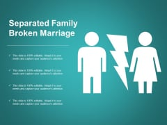 Separated Family Broken Marriage Ppt Powerpoint Presentation Ideas Guide