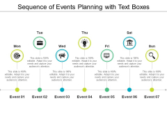 Sequence Of Events Planning With Text Boxes Ppt PowerPoint Presentation Gallery Clipart PDF