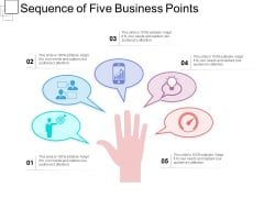Sequence Of Five Business Points Ppt PowerPoint Presentation Gallery Clipart PDF