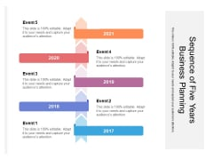 Sequence Of Five Years Business Planning Ppt PowerPoint Presentation File Introduction PDF
